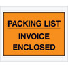 Orange  inchPacking List/Invoice Enclosed inch Envelopes 4 1/2 inch x 5 1/2 inch (1000 Pack)