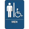 ADA Compliant Plastic Sign 9 inch x 6 inch - Men/Accessible Restroom-1