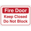Facility Sign 6 inch x 9 inch - Fire Door
