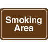 Facility Sign 6 inch x 9 inch - Smoking Area