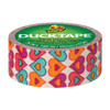 """Ducklings Mini Duck Tape Brand Duct Tape Hearts Duck 3/4""""x15 ft Roll"""