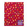 Fabric Sheet Duck Brand Coral Polka Dot 8.25 inch x 10 inch on liner