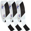 Tape Logic Black/White Striped Vinyl Safety Tape 1 inch x 36 yard Roll (3 Roll/Pack)