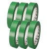 3M General Purpose Vinyl Tape 764 Green 1 inch x 36 yard Roll (6 Pack)