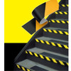 "3M Hazard Warning Tape 766 Yellow/Black 2"" x 36 yard Roll (2 Pack)"