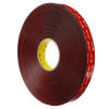 3M 4919F VHB Tape Black 1 inch x 5 yard Roll (25 Mil)