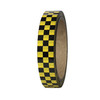 """Laminated Checkerboard Outdoor Vinyl Tape 3/4"""" x 18 yard Roll Yellow / Black (24 Roll / Case)"""