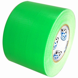 Pro Duct 139 Fluorescent Green Duct Tape 4 inch x 60 yard Roll (12 Roll/Pack)