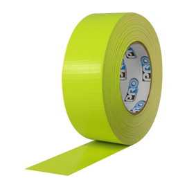 Pro Duct 139 Fluorescent Yellow Duct Tape 2 inch x 60 yard Roll (24 Roll/Pack)