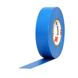3M Economy Vinyl Electrical Tape 1400C Blue 3/4 inch x 60 ft x 7 mil (10 Pack)