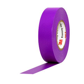3M Economy Vinyl Electrical Tape 1400C Purple 3/4 inch x 60 ft x 7 mil (10 Pack)