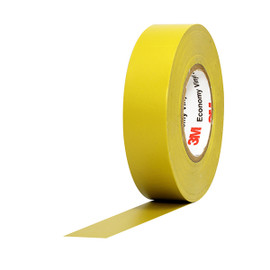 3M Economy Vinyl Electrical Tape 1400C Yellow 3/4 inch x 60 ft x 7 mil (10 Pack)
