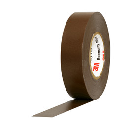 3M Economy Vinyl Electrical Tape 1400C Brown 3/4 inch x 60 ft x 7 mil