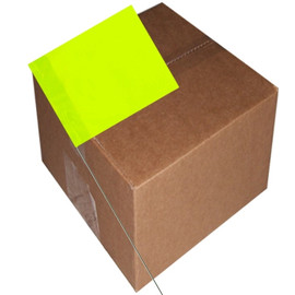 Marking Flags Lime Glo 4 inch x 5 inch Flag with 30 inch Wire Staff (1000 Piece/Pack)