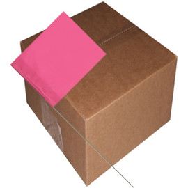 Marking Flags Pink Glo 4 inch x 5 inch Flag with 30 inch Wire Staff (1000 Piece/Pack)