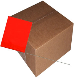 Marking Flags Red Glo 4 inch x 5 inch Flag with 30 inch Wire Staff (1000 Piece/Pack)