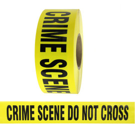 Barricade Tape - Crime Scene Do Not Cross - Yellow 3 inch x 1000 ft Non Adhesive 3 mil (8 Roll/Pack)