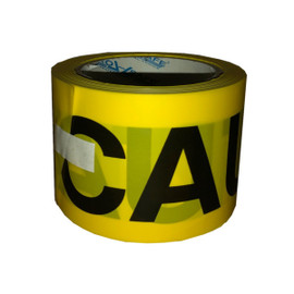Pro Safe Barricade Tape Caution Yellow 3 inch x 200 ft Non Adhesive 3 mil