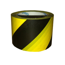 Pro Safe Barricade Tape Yellow/Black Stripe 3 inch x 200 ft Non Adhesive 3 mil