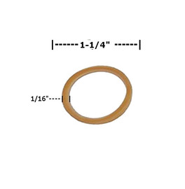 Rubber Bands 1/16 inch x 1 1/4 inch (34000 Per/Pack)