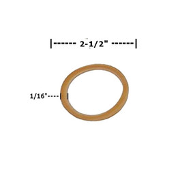Rubber Bands 1/16 inch x 2 1/2 inch (19000 Per/Pack)
