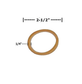 Rubber Bands 1/4 inch x 2 1/2 inch (4900 Per/Pack)