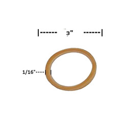Rubber Bands 1/16 inch x 3 inch (16000 Per/Pack)