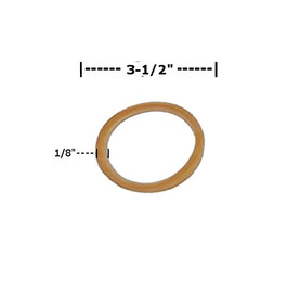 Rubber Bands 1/8 inch x 3 1/2 inch (3200 Per/Pack)