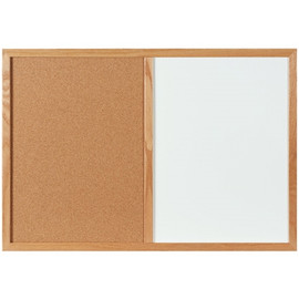 Combination Dry Erase/Cork Board 3 ft x 2 ft
