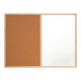 Combination Dry Erase/Cork Board 4 ft x 3 ft