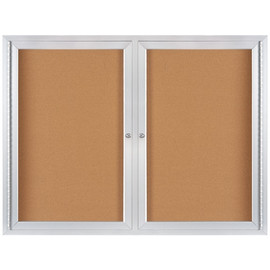 Enclosed Cork Board with Aluminum Frame 4 ft x 3 ft