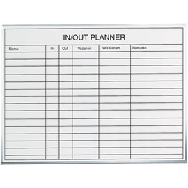 In/Out Staff Dry Erase Board 3 ft x 2 ft