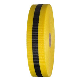 Woven Barricade Tape 2 inch x 150 ft Yellow with Black Stripe (48 Roll/Pack)