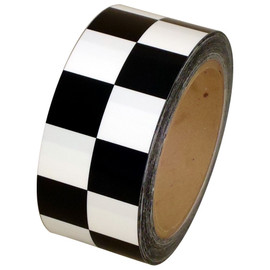 Checkerboard Vinyl Tape 2 inch x 36 yard Roll Black / White