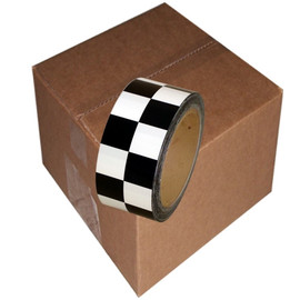 Checkerboard Vinyl Tape 2 inch x 36 yard Roll Black / White (24 Roll/Pack)