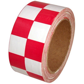 Checkerboard Vinyl Tape 2 inch x 36 yard Roll Red / White