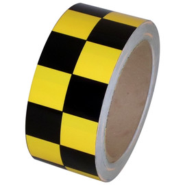 Checkerboard Vinyl Tape 2 inch x 36 yard Roll Black / Yellow