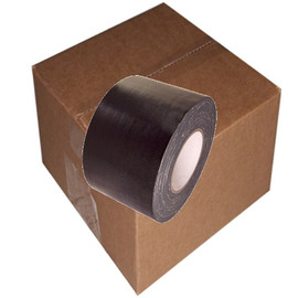 Black Duct Tape 4 inch x 60 yard Roll (12 Roll/Pack)