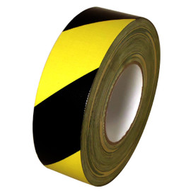 Black & Yellow Hazard Striped Duct Tape 2 inch x 60 yard Roll