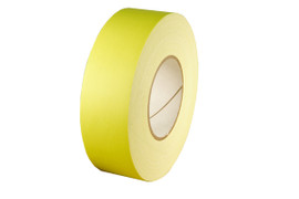 Economy Fluorescent Yellow Gaffers Duct Tape 2 inch x 60 yard Roll (24 Roll/Pack)