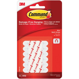 3M 17020 Command Refill Strips - Mini (6 Pack)