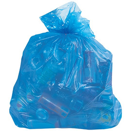Recycling Trash Bags Blue 24 inch x 30 inch x 1.1mil (250 Per/Pack)