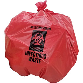 Infectious Waste Bags Red 30 inch x 36 inch x 1.1mil (250 Per/Pack)
