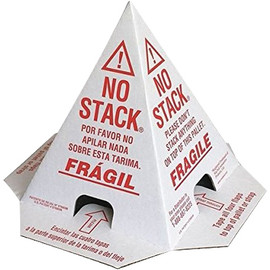 Print Pallet Cones Red & White 8 inch x 8 inch x 10 inch (50 Per/Pack)