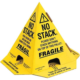 Print Pallet Cones Yellow & Black 8 inch x 8 inch x 10 inch (50 Per/Pack)