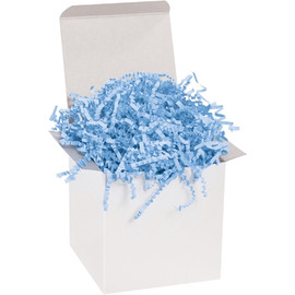 Crinkle Paper Light Blue 10 lb. Box