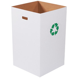 Corrugated Trash Cans with Recycle Logo  40 Gallon (10 Per/Pack)