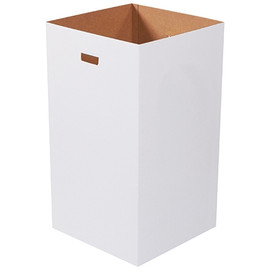 Corrugated Trash Cans Plain 50 Gallon (10 Per/Pack)
