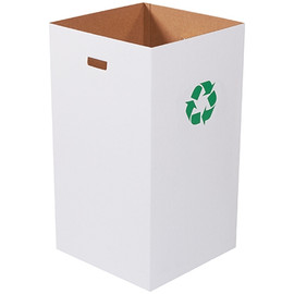 Corrugated Trash Cans with Recycle Logo 50 Gallon (10 Per/Pack)