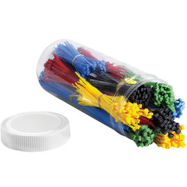 Cable Tie Kit - Assorted Colors (1000 Tie/Kit)